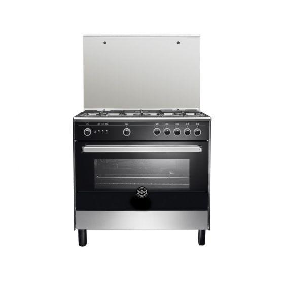 La Germania Free- Standing Gas Cooker, 5 Burners, Stainless Steel- 9M10GUB1X4AWW