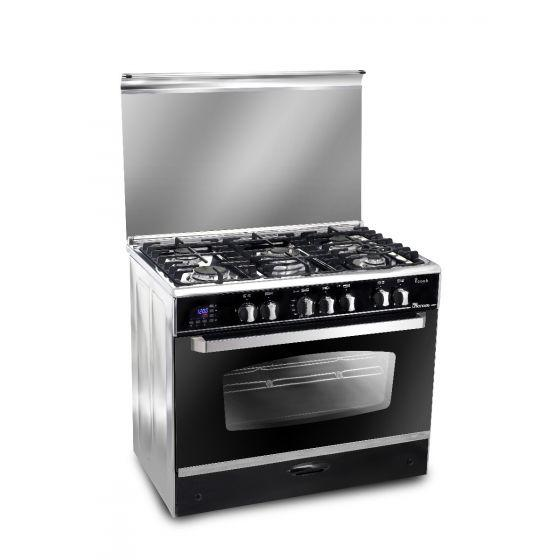 Unionaire 5 Burners i-Cook Gas Cooker, Stainless Steel, 90 cm - C6090SNC