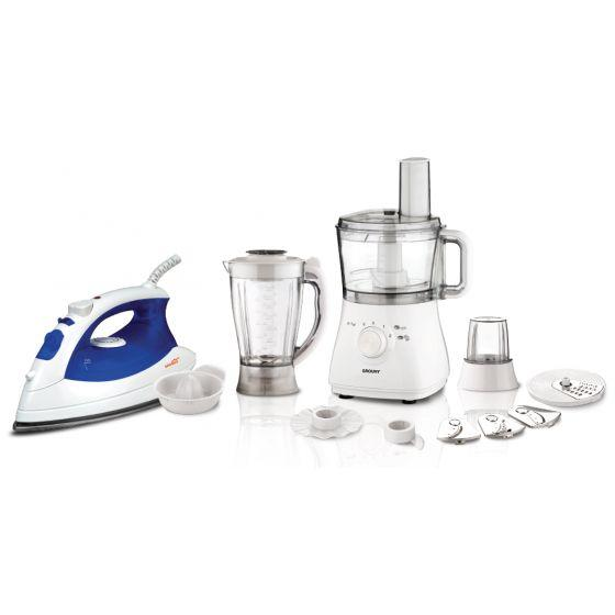 Set of Grouhy Food Processor and Steam Iron