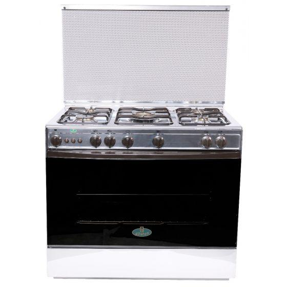 Kriazi Gas Cooker, 5 Burners, Silver- 9700SS