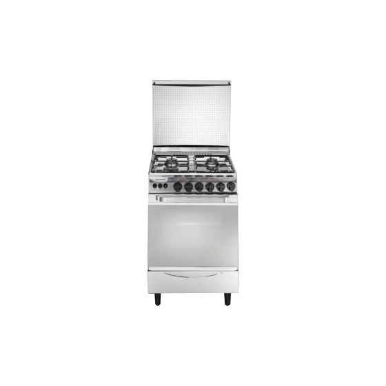 Universal New Classic 4 Burners Stainless Steel Cooker, Silver - 4508NC- G