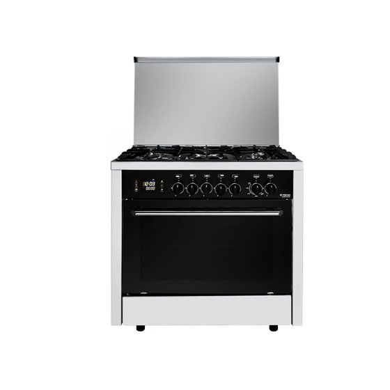 Fresh Professional Style Freestanding Gas Cooker, 5 Burners, Stainless Steel - 6272