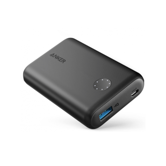 Anker PowerCore II Power Bank, 10000 mAh, 1 Port, Black - A1230H11