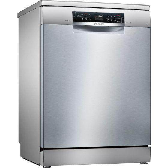 Bosch Serie 6 Free Standing Dishwasher, 13 Place Settings, Silver - SMS67NI01T