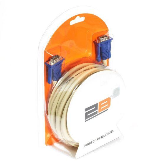 2B Connecting cable From VGA15M To VGA15M, 10 Meter, DC474 - White