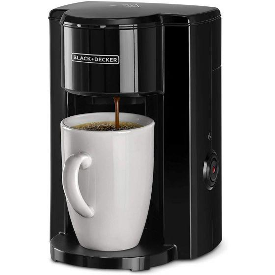Black+Decker Coffee Machine with Coffee Mug, 350 Watt, Black - DCM25N-B5