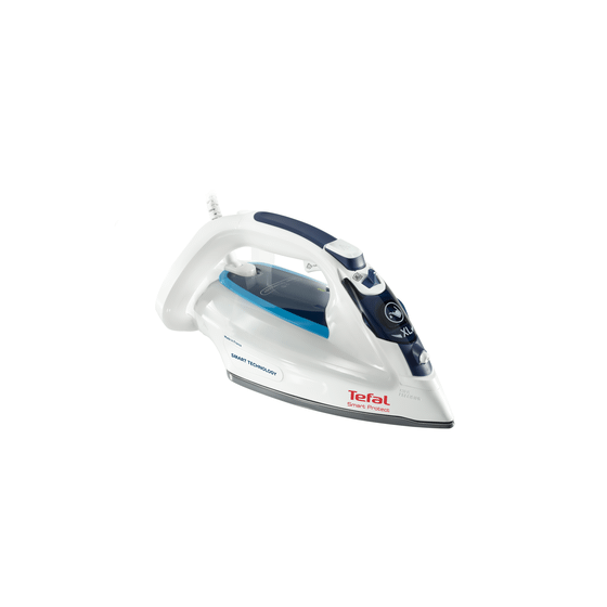 Tefal Smart Protect Steam Iron, 2600 Watt, White - FV4980