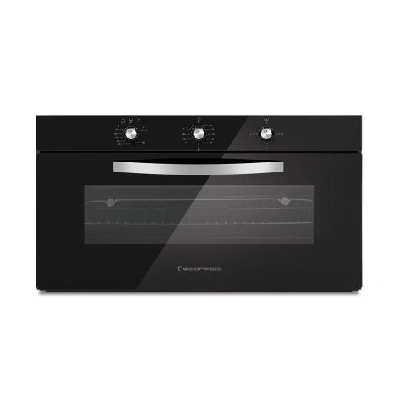 Ecomatic Crystal Turbofan Built-In Gas Oven With Grill, 105 Liters, Black- G9104GT