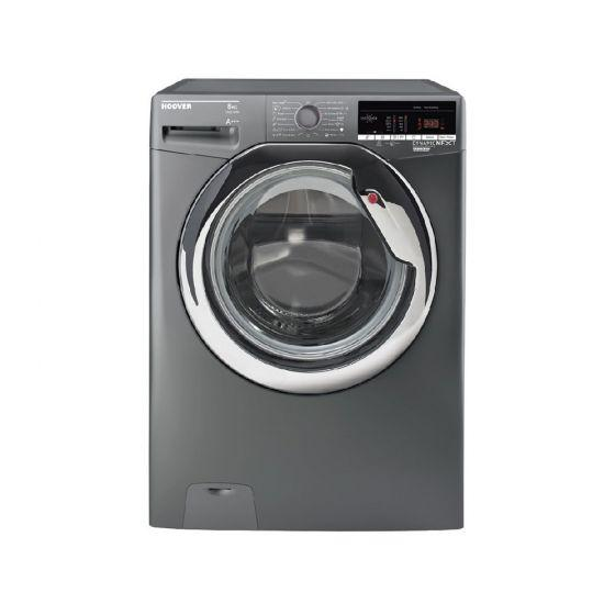 Hoover Front Load Automatic Washing Machine, 8 KG, Silver- DXOA38AC3R-ELA