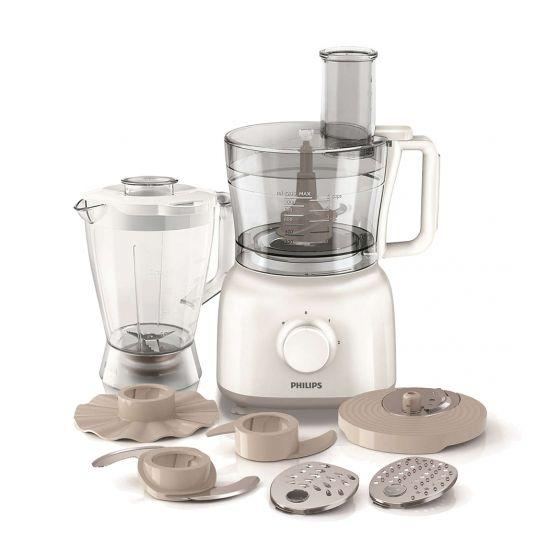 Philips Daily Collection Food Processor, 650 Watt, White - HR7628/00