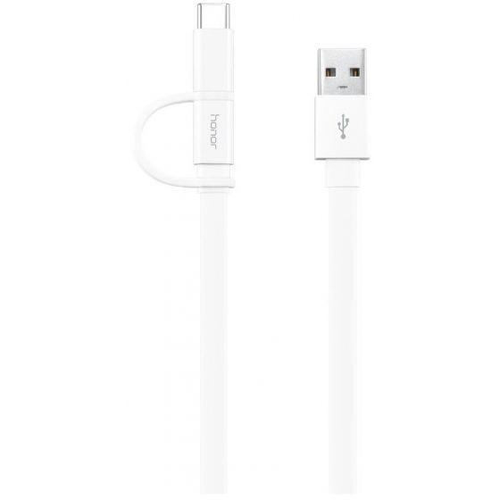 Honor 2 in 1 USB Cable, 1.5 Meters - White