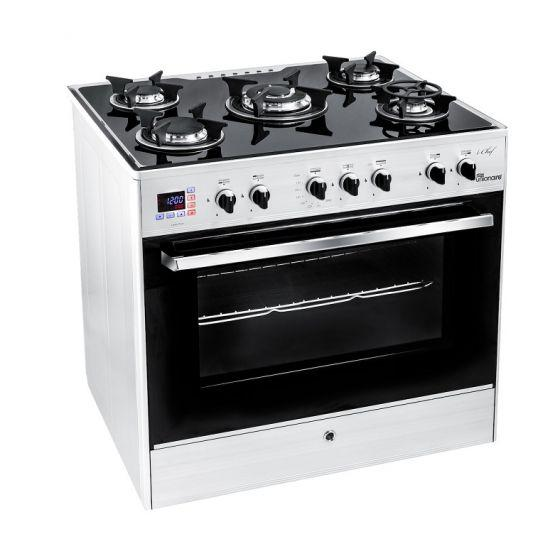 Unionaire 5 Burners i-Chef Smart Gas Cooker, Stainless Steel, 90 cm - C6090GS