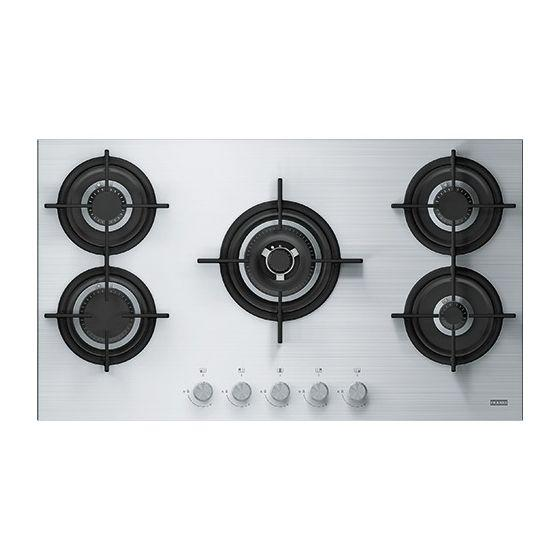 Franke Built In Gas Hob, 5 Burners, Silver - FHCR9054GTCHEXSC