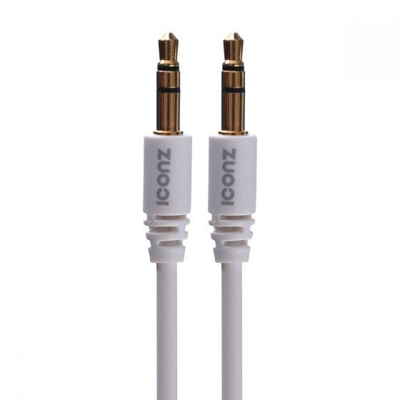 ICONZ AUX Cable, 1 Meter, White - JCS1W