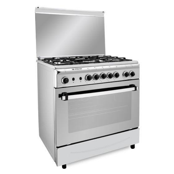 Fresh Freestanding Italiano Gas Cooker, 5 Burners, Stainless Steel, 80cm - 7531