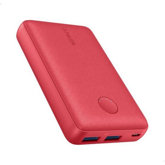 Anker PowerCore Select Power Bank, 10000mAh, 2 Ports, Red - A1223H91