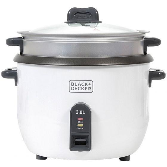 Black + Decker Rice Cooker, 2.8 Liter, 1100 Watt, White - RC2850
