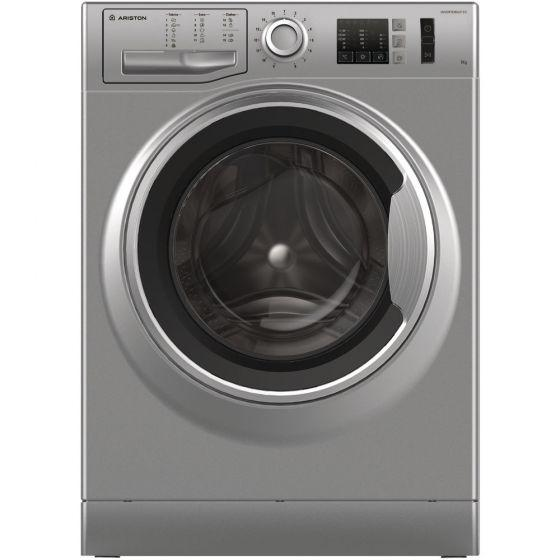 Ariston Front Load Automatic Washing Machine, 7 KG, Inverter Motor, Silver- NM10 723 SS EX
