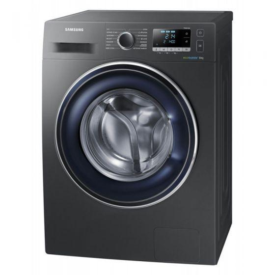 Samsung Front Load  Automatic Washing Machine, 8 KG, Silver- WW80J5555FX1AS