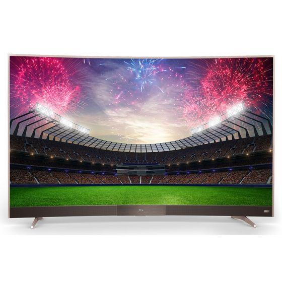 TCL 55 Inch Smart Curved LED 4K Ultra HD TV, Built-in Receiver - 55P3