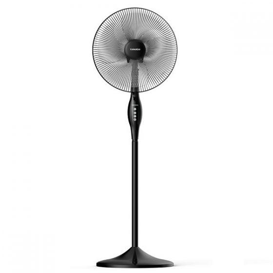 Tornado Stand Fan without Remote Control, 16 Inch, Black - TSF-16W
