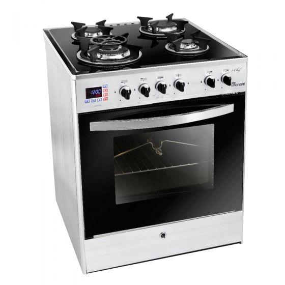 Unionaire 4 Burners i-Chef Gas Cooker, Stainless Steel, 60 cm - C6060GS