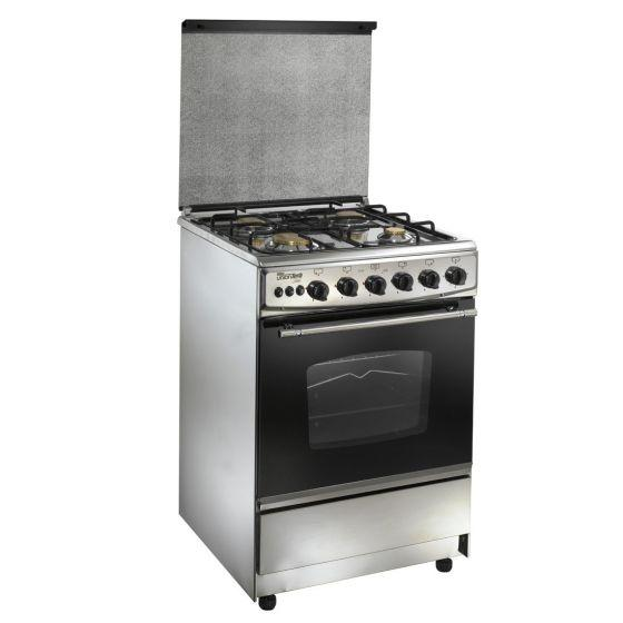 Unionaire 4 Burners Gas Cooker, Stainless Steel, 55 cm - C5555SVAP170