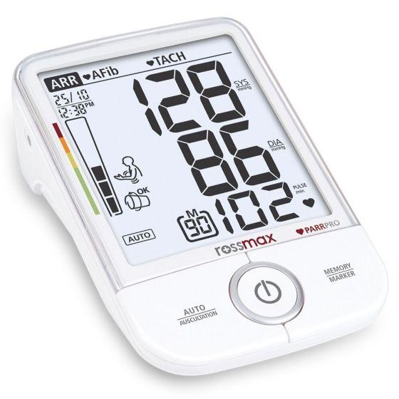 Rossmax Parr Pro Automatic Upper Arm Blood Pressure Monitor, White - X9