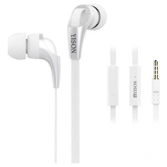 Yison Stereo Wired In-Ear Earphones, White - CX330