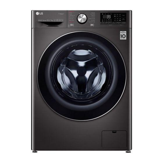 LG  Vivace Front Load Automatic Washing Machine With Dryer, 10.5 KG, Black Steel- F4V9RCP2E