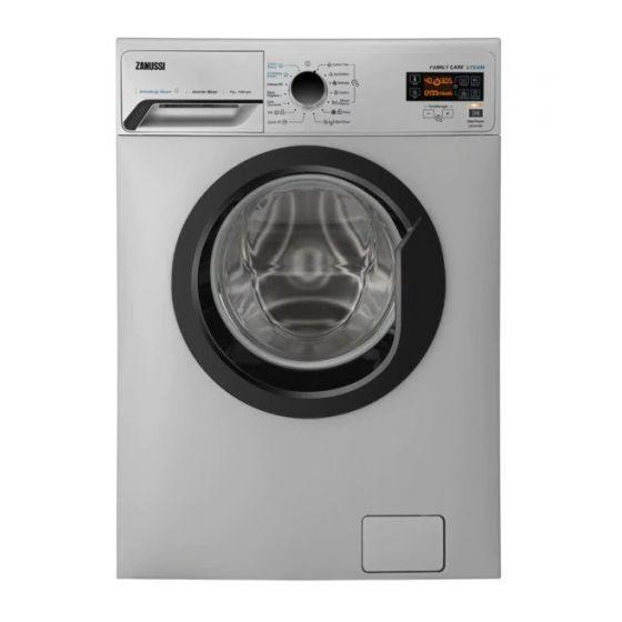 Zanussi Front Load Automatic Washing Machine, 7 KG, Inverter Motor ,Silver - ZWF7241SBV