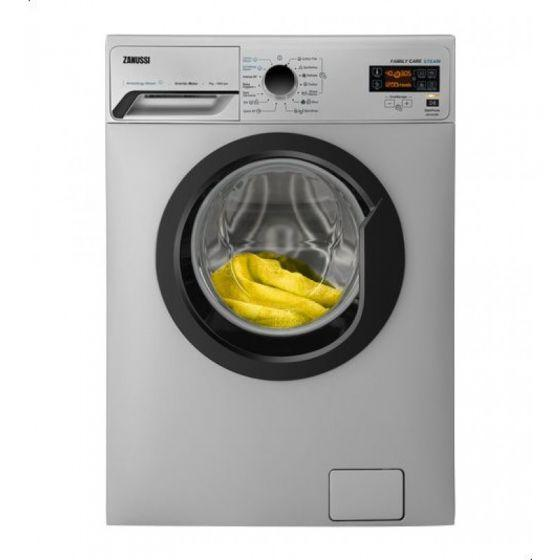 Zanussi Automatic Washing Machine, Front Load, 7 KG, Silver - ZWF7030SBV