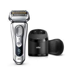 Braun Series 9 Wet & Dry shaver with Clean & Charge station, Silver - 9390cc