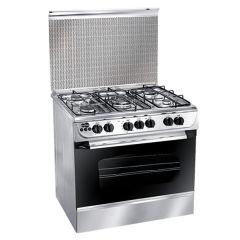 Uniontech 5 Burners Gas Cooker, Stainless Steel, 80 cm - C6080SS-AP-186-L-F
