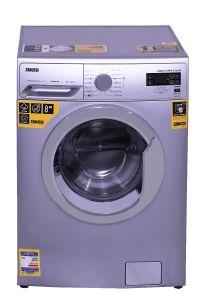 Zanussi Front Load Automatic Washing Machine, 8 KG, Silver- ZWF8240SXV
