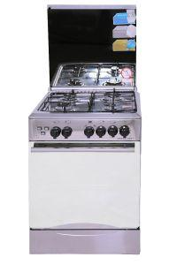 Universal Gas Cooker, 4 Burners, Silver- 5504 IB
