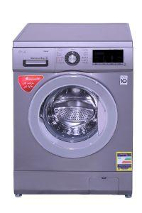 LG Front Load Automatic Washing Machine, 9 KG, Inverter Motor, Silver - FH4G6VDY6