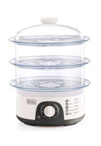 Black + Decker Food Steamer,10 Liter, 775 Watt, White - HS6000