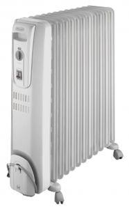 Delonghi Oil Heater, 12 Fins, 2500 Watt, White - KH771225