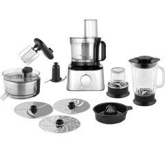 Kenwood Multipro Compact Food Processor, 800 Watt, Silver/Black - FDM307SS
