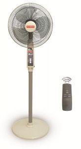 Fresh Smart Stand Fan With Remote Control, 16 Inch - Grey