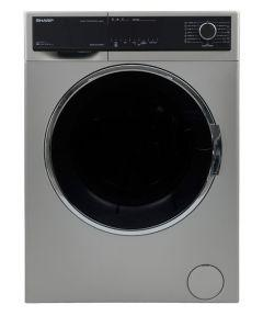 Sharp Front Load Automatic Washing Machine, 9 KG, Silver- ES-FP914CXE-S
