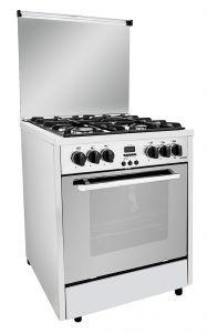 Fresh Professional Freestanding Cooker, 4 Burners, Stainless Steel, 65 cm - 3510