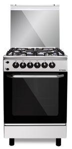 Fresh Freestanding Forno Gas Cooker, 4 Burners, Stainless Steel, 55 cm - 5010