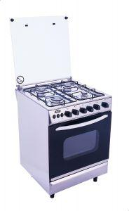 Universal Grand Rosa Gas Cooker, 4 Burners, Silver - 5604-2