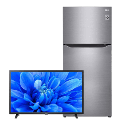 LG No-Frost Refrigerator 393 Liters, Inverter Motor- GN-C562SLCU, With 32 Inch HD LED TV, With Built-In Receiver- 32LM550BPVA