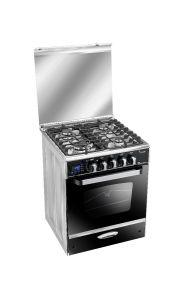 Unionaire i-Cook Smart Freestanding Gas Cooker, 4 Burners, Stainless Steel- C6060SSDC511IDSC-S