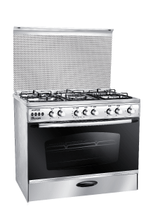 Unionaire Gas Cooker, 5 Burners, Stainless Steel- C6090SSP2C255F-FC