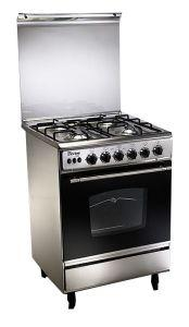 Unionaire Gas Cooker, 4 Burners, Stainless Steel-  CF6060SS-AP-447