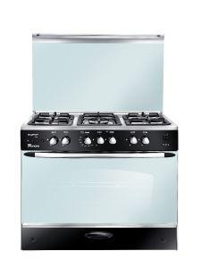 Unionaire Gas Cooker 5 Burners , Stainless Steel- C6090SSP2C255F-FS
